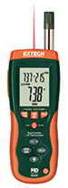 Extech HD500 digital psychro- meter w/ IR thermometer