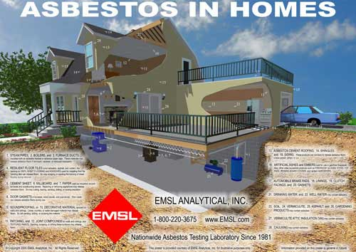 Asbestos In Homes Poster For Environmental Professionals
